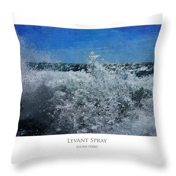 Throw Pillow featuring the digital art Levant Spray by Julian Perry