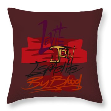 Levite By Blood Throw Pillow