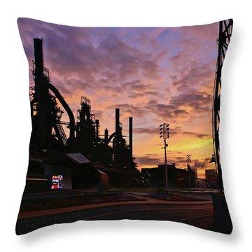 Throw Pillow featuring the photograph Levitt Pavilion by DJ Florek