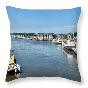 Throw Pillow featuring the photograph Lewes Delaware by Brendan Reals