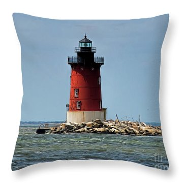 Lewes Lighthouse Throw Pillow