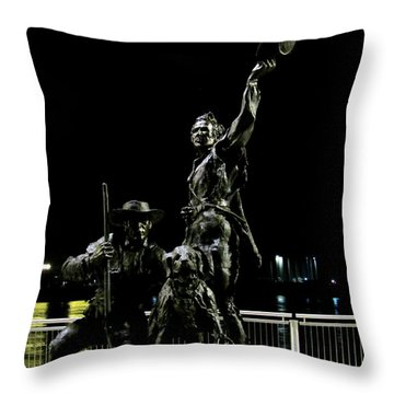 Lewis And Clark Arrive At Laclede's Landing Throw Pillow