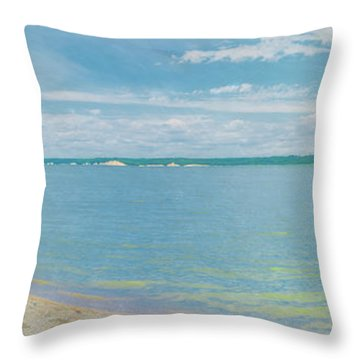Lewis And Clark Lake Throw Pillow