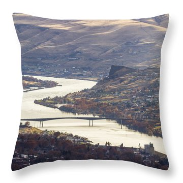 Lewis Clark Valley Throw Pillow by Brad Stinson