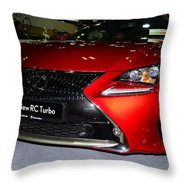Lexus Rc Turbo Throw Pillow