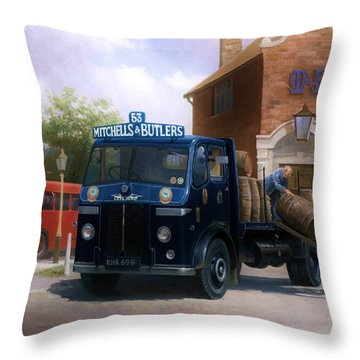 Leyland Dray. Throw Pillow by Mike  Jeffries