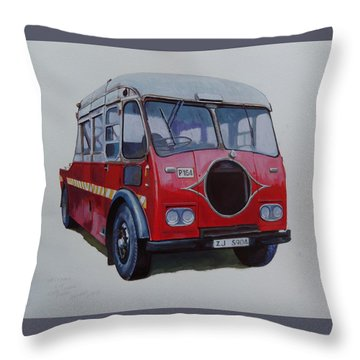 Throw Pillow featuring the painting Leyland Wrecker Cie by Mike Jeffries