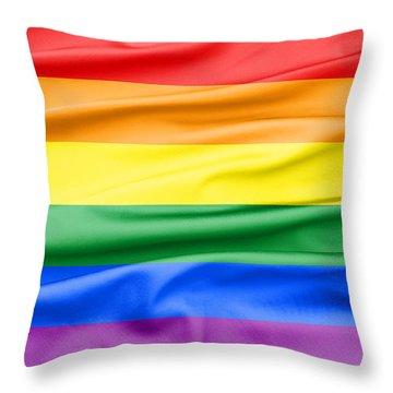 Lgbt Rainbow Flag Throw Pillow