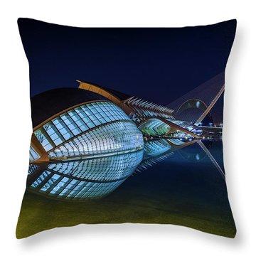 L'hemisferic In Valencia Throw Pillow
