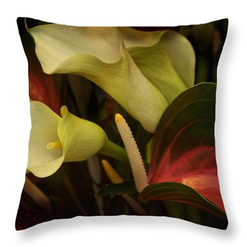 Throw Pillow featuring the photograph Li Ly Land by Richard Cummings
