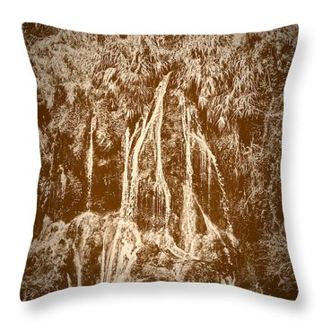 Throw Pillow featuring the photograph Li River Waterfall by Tom Vaughan