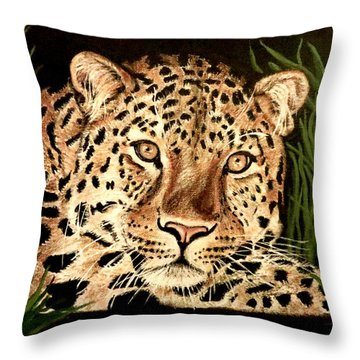 Throw Pillow featuring the painting Liam by Teresa Wing