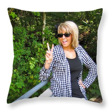 Throw Pillow featuring the photograph Liana by Sean Griffin