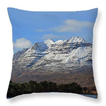Liatach And Loch Clair Throw Pillow
