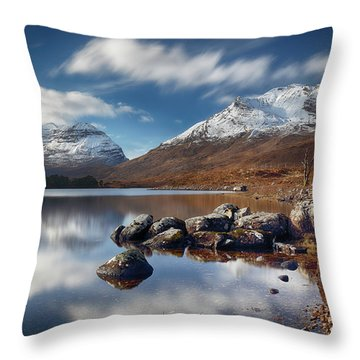 Throw Pillow featuring the photograph Liathach by Grant Glendinning