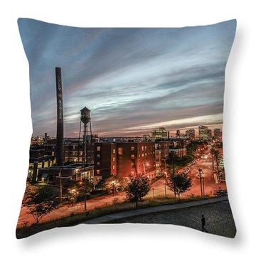 Libby Hill Post Sunset Throw Pillow