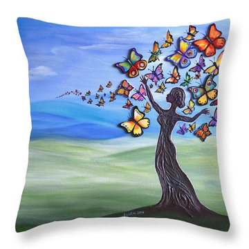 Liberation Of Inner Beauty Throw Pillow