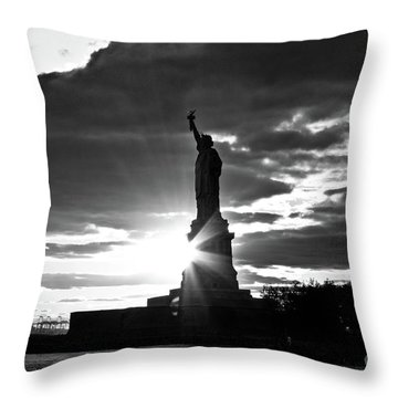 Throw Pillow featuring the photograph Liberty by Ana V Ramirez