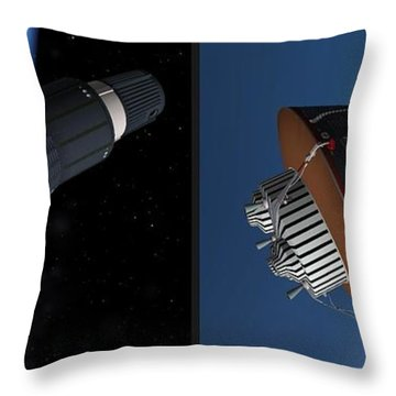 Liberty Bell 7 - Gently Cross Your Eyes And Focus On The Middle Image Throw Pillow by Brian Wallace