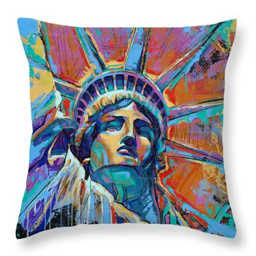 Liberty In Color Throw Pillow