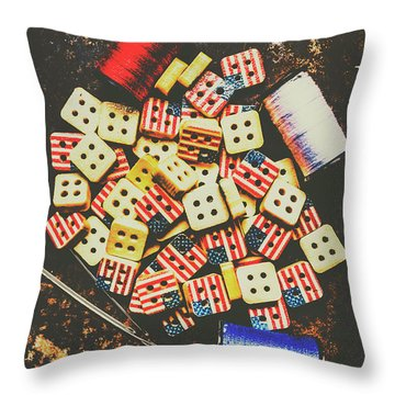 Liberty In Patchwork Throw Pillow