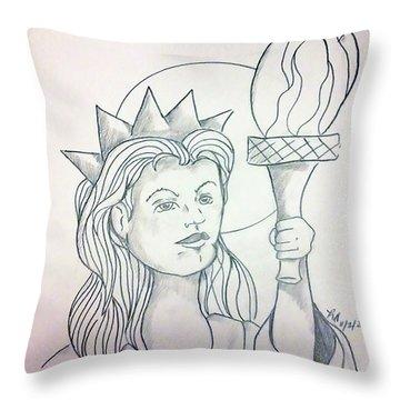 Liberty Throw Pillow by Loretta Nash