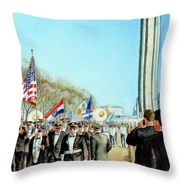Liberty Memorial Kc Veterans Day 2001 Throw Pillow by Carolyn Coffey Wallace