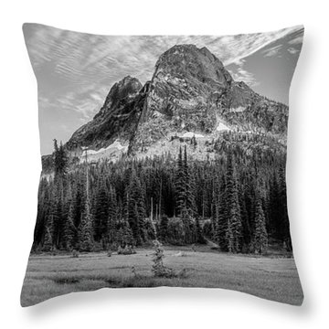 Throw Pillow featuring the photograph Liberty Mountain At Sunset by Jon Glaser