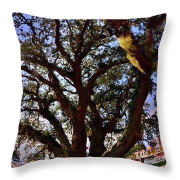 Liberty Oak Harbour Town Hilton Head Sc Throw Pillow