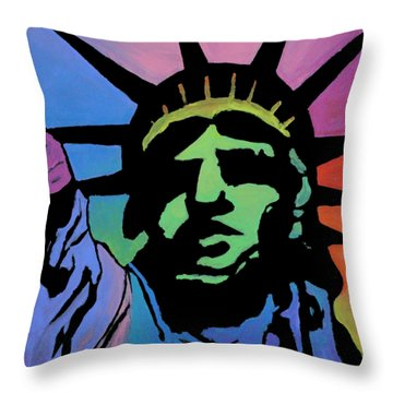 Liberty Of Colors Throw Pillow by Jeremy Aiyadurai
