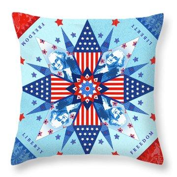 Liberty Quilt Throw Pillow by Valerie Drake Lesiak