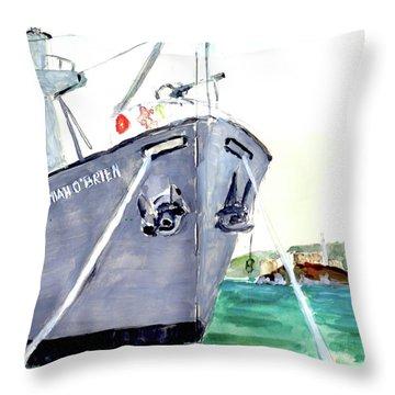 Liberty Ship S S Jeremiah O'brien Throw Pillow