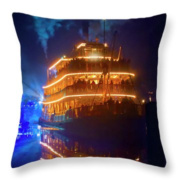 Throw Pillow featuring the photograph Liberty Square Riverboat by Mark Andrew Thomas