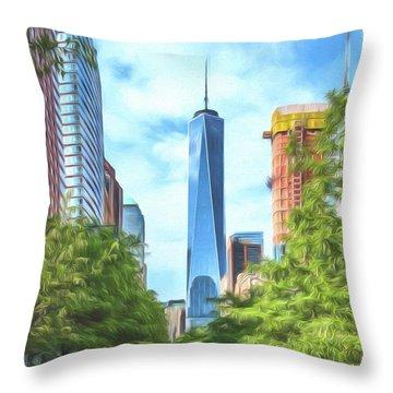 Liberty Tower Throw Pillow