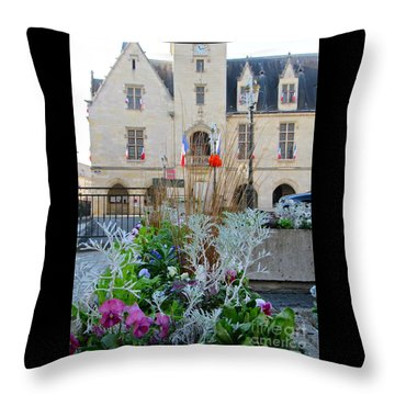 Libourne Town Hall Throw Pillow