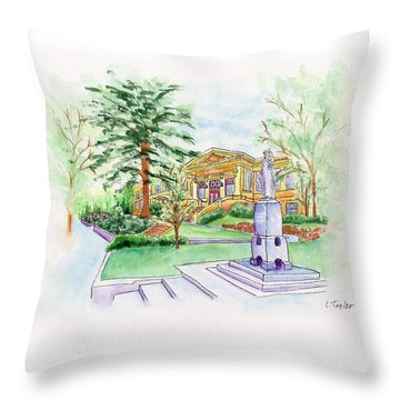 Library A Carnegie Original Throw Pillow