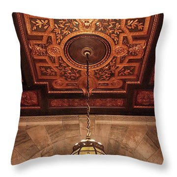 Throw Pillow featuring the photograph Library Light by Jessica Jenney