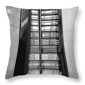 Library Skyway Throw Pillow by Rona Black