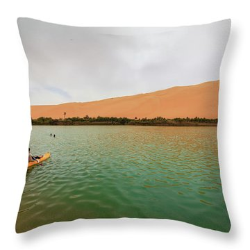 Libyan Oasis Throw Pillow