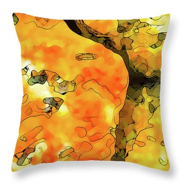 Lichen Abstract Throw Pillow