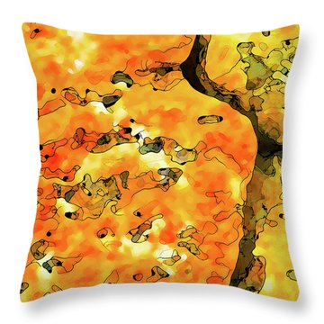 Throw Pillow featuring the digital art Lichen Abstract 2 by ABeautifulSky Photography
