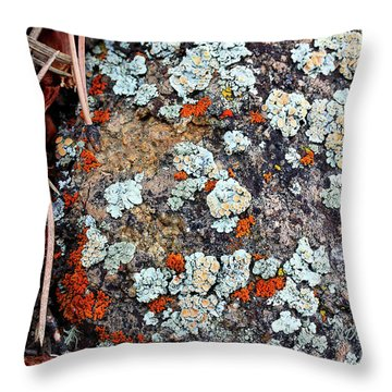Lichen With Pine Throw Pillow