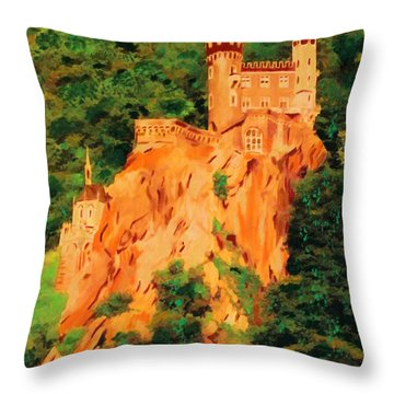 Lichtenstein Castle Throw Pillow