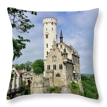 Lichtenstein Castle Throw Pillow