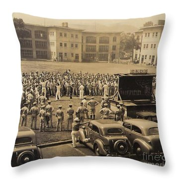 Lick The Chicks Throw Pillow by Walter Chamberlain