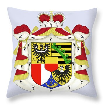 Throw Pillow featuring the drawing Liechtenstein Coat Of Arms by Movie Poster Prints