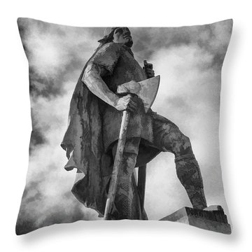 Lief Ericsson Reykjavik Throw Pillow