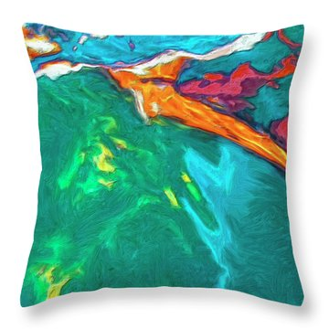 Throw Pillow featuring the painting Lies Beneath by Dominic Piperata