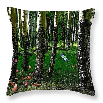 Life Among The Aspens Throw Pillow