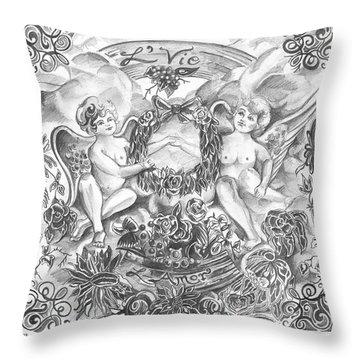 Life And Love Throw Pillow by John Keaton